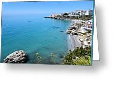 Coastline Of Nerja-spain Greeting Card