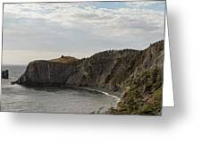 Coastline Of Skerwink Trail, Trinity, Newfoundland, Canada  Greeting Card