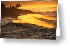 Coastline Sunset Greeting Card