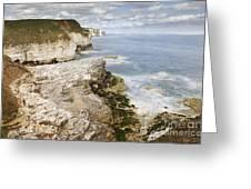 Coastline Viewed From Thornwick Bay Flamborough Greeting Card