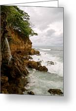 Coastline Waterfall Greeting Card