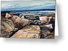 Coast's Edge Greeting Card by Richard Knox