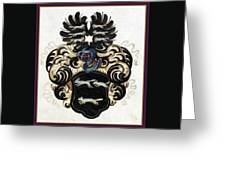 Coat Of Arms Black Greeting Card