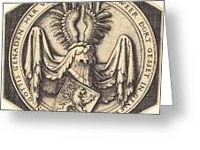 Coat Of Arms With A Lion Greeting Card
