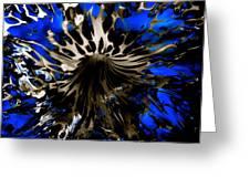 Cobalt Blue Wormhole Greeting Card