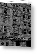 Cobalt Motor Hotel Greeting Card