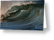 Cobalt Wave Greeting Card