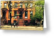 Cobble Hill Brownstones - Brooklyn - New York City Greeting Card by Vivienne Gucwa