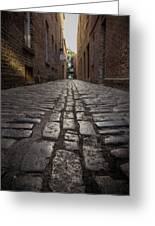 Cobbled Alley Greeting Card