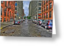 Cobblestone Brooklyn From Dumbo Greeting Card
