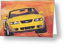 Cobra Mustang Greeting Card