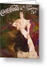 Coca Cola 1908 Greeting Card