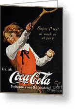 Coca-cola Ad, 1923 Greeting Card by Granger