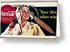 Coca-cola Ad, 1941 Greeting Card by Granger