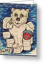 Coca Cola Bear Greeting Card