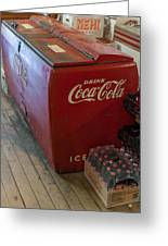 Coca-cola Chest Cooler General Store Greeting Card
