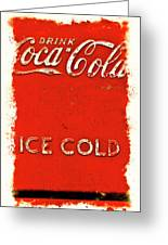 Coca-cola Cooler Greeting Card