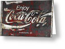 Coca Cola Grunge Sign Greeting Card