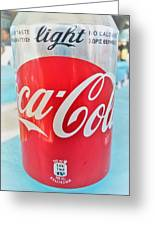 Coca Cola Light Can Greeting Card
