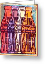 Coca Cola Newspaper Art Pop Art Pur Serie Greeting Card