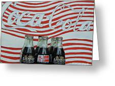 Coca Cola Olympic Commemorative Bottles Greeting Card