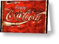 Coca Cola Square Soft Grunge Greeting Card