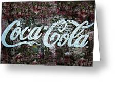 Coca Cola Wall Greeting Card