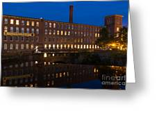 Cocheco Mills At Twilight Dover New Hampshire Greeting Card