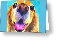 Cocker Spaniel Dog Smile Greeting Card
