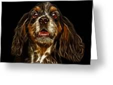Cocker Spaniel Pop Art - 8249 - Bb Greeting Card