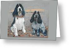 Cocker Spaniels Greeting Card