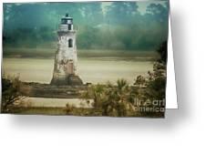 Cockspur Island Light Greeting Card
