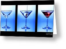 Cocktail Triptych Greeting Card
