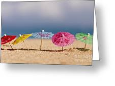 Cocktails In The Sand Greeting Card