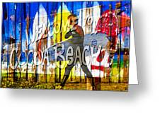 A Cocoa Beach Welcome Greeting Card