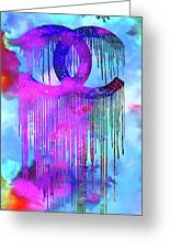 Coco Chanel Liquidated Logo Colorful Greeting Card