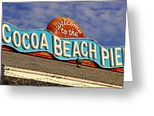 Cocoa Beach Pier Sign Greeting Card