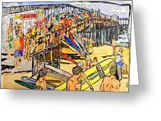Cocoa Beach Pier/surf Festavil Greeting Card