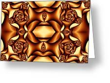Cocoa Fractal Roses Greeting Card