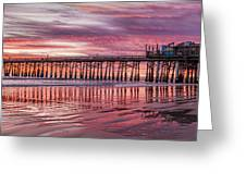 Cocoa Pier Sunrise Greeting Card