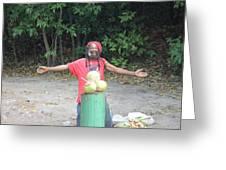 Coconut Man Greeting Card