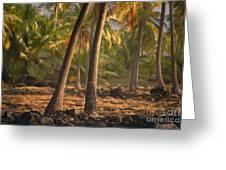 Coconut Palm Grove Greeting Card