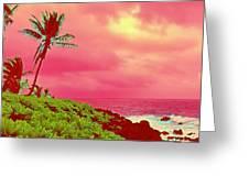 Coconut Palm Makai For Pele Greeting Card
