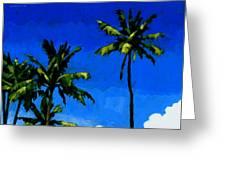 Coconut Palms 5 Greeting Card