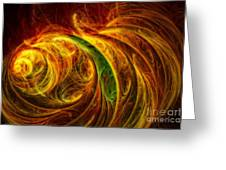Cocoon Of Glowing Spirits Abstract Greeting Card
