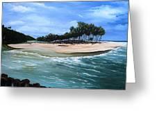 Cocos Bay Trinidad Greeting Card