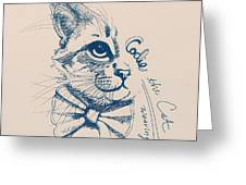 Codie, Wearing A Bow Tie Greeting Card