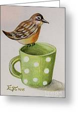 Coffee And A Friend Greeting Card