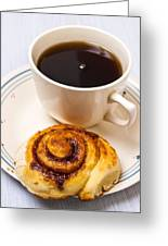 Coffee And Breakfast Roll Greeting Card