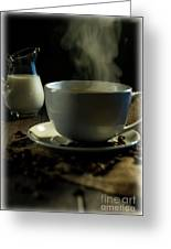 Coffee And Cream Greeting Card